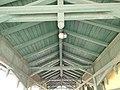 Cog railway. Svábhegy stop. Wood roof. - Budapest XII. Hollós Way.JPG