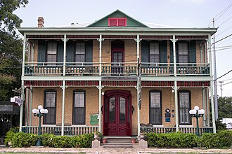National Register of Historic Places listings in Comal County, Texas - Image: Comal hotel 2012