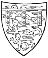 Fig. 704.—Henry, Duke of Lancaster, son of preceding. (From his seal, 1358.)