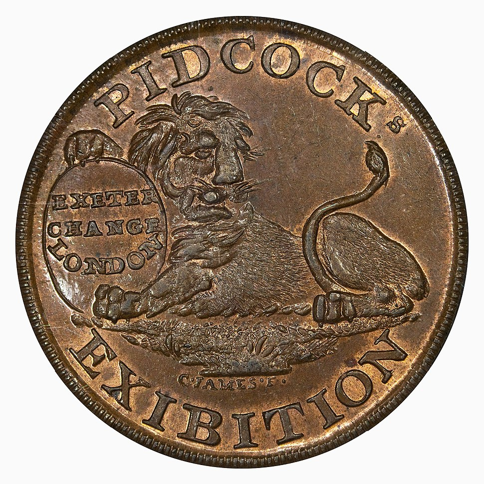 Conder Token Middlesex DH414 Pidcocks Menagerie obverse