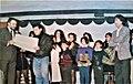 Consegna dei diplomi da un professore del Conservatorio di Cagliari a gli alunni di Maestro Rossano Puddu ( a destra ).jpg