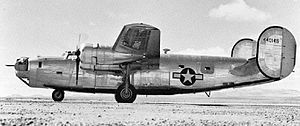 858th Bombardment Squadron - Consolidated B-24J Liberator 44-40145 of the 858th Bombardment Squadron, just after delivery.  The aircraft was lost 12 Sep 1944 with no survivors.