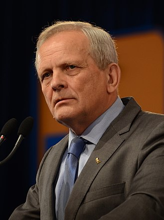 National Liberal Party (Romania) - Image: Conventia PD L 2013 Theodor Stolojan (2)