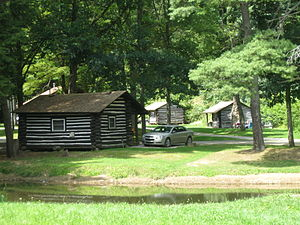 National Register of Historic Places listings in Forest County, Pennsylvania - Image: Cook Forest State Park Indian Cabins