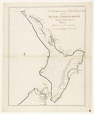 First voyage of James Cook - Image: Cookchart North Island