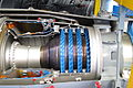 Core compressor and combustor of sectioned Rolls-Royce Turboméca Adour turbofan.jpg