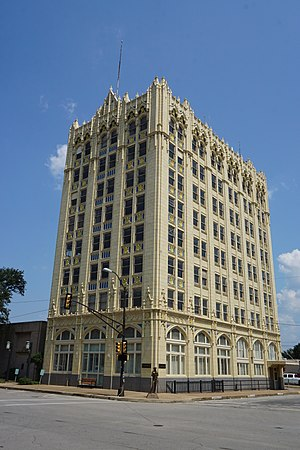 Corsicana, Texas - The State National Bank building in Corsicana (built 1926)