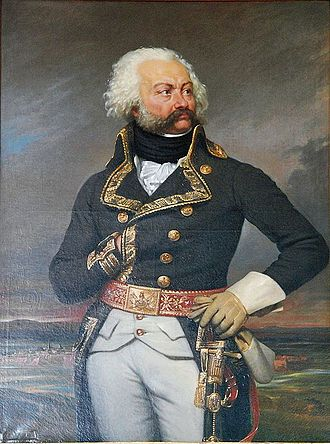 "Étienne Marie Antoine Champion de Nansouty - A portrait of General Adam Philippe de Custine by Joseph-Désiré Court. Nansouty saw military action for the first time as a young lieutenant-colonel of the 9th Cavalry Regiment, in Custine's Corps of the ""Army of the Rhine""."