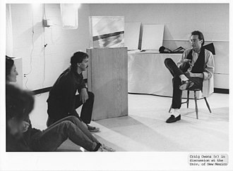 Craig Owens (critic) - Craig Owens speaking to students about the role of media in art and culture, at the University of New Mexico in 1986, during the ART/MEDIA event series.