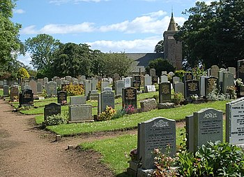 English: Crail grave yard Just a hundred yards...