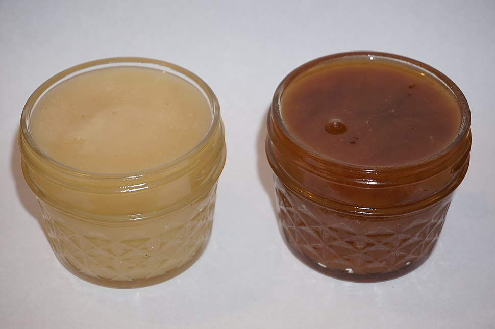Creamed honey Maillard reaction after aging