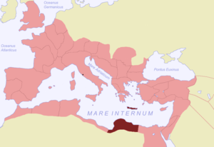 Crete and Cyrenaica - Roman province of Creta et Cyrenaica highlighted.