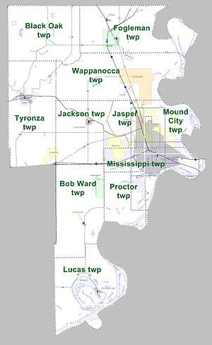 Crittenden County, Arkansas - Townships in Crittenden County, Arkansas as of 2010