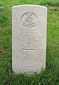 Cross (Wilfred George) CWGC gravestone, Flaybrick Memorial Gardens.jpg