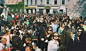 Crowd in Berlin, Kreuzberg, Heinrichplatz (52....