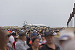 Crowd lined up along the runway during day 1 of the public day at the 2015 Australian International Airshow.jpg