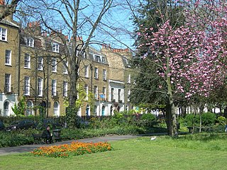 garden square in Lower Clapton in the London Borough of Hackney