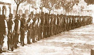 Cuba–United States relations - The 10th United States Infantry Regiment – The Army of Occupation in Havana circa 1898.
