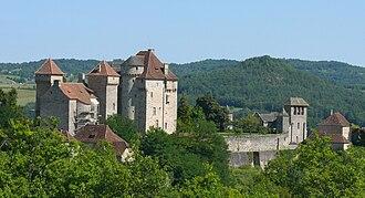Curemonte - The Château des Plas, in Curemonte