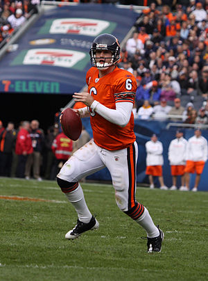 English: JAY CUTLER, of the Chicago Bears, in ...