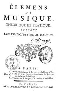 Elémens de musique, théorique et pratique, suivant les principes de M. Rameau cover