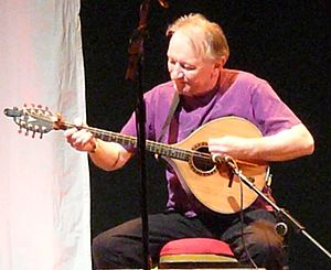 Dónal Lunny - Lunny playing the bouzouki 2012