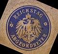 """DB Museum Nürnberg - """"Reichstag Abgeordneter"""" (Siegel, 1918).jpg"""