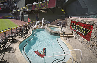 Chase Field - The pool at Chase Field as it appeared when it was sponsored by Ride Now Power Sports, current sponsoring is by Dodge.
