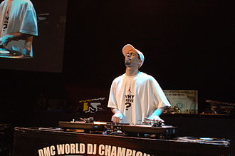 DMC World DJ Championships - Image: DJ Fly at DMC World 2008