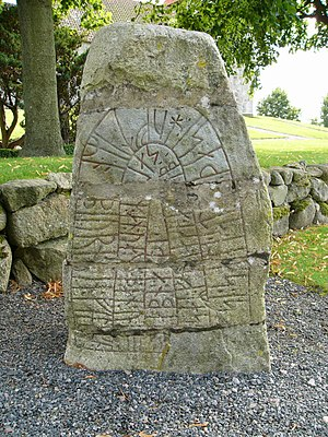 Sjörup Runestone - Image: DR279 1 Sjörup