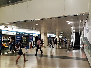Downtown MRT line Rapid transit line on the Singapore Mass Rapid Transit (MRT) network