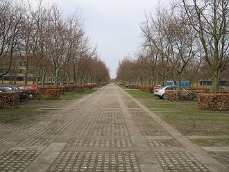 Lundtofte Flyveplads - The central parking lot at DTU