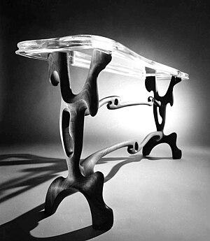 Paul László - Console table designed as a tribute to Salvador Dalí