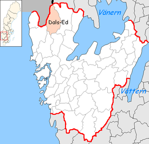 Dals-Ed Municipality - Image: Dals Ed Municipality in Västra Götaland County