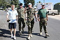 Damien Duff and his brother Sergeant Gerry Duff visit the troops of the Irish 106 Battalion in Tibnine Lebanon (7514495204).jpg