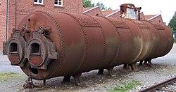 Dampfkessel für eine Stationärdampfmaschine im Textilmuseum Bocholt.jpg