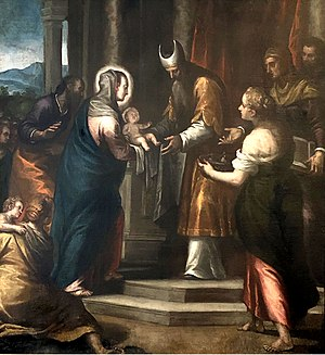 Alessandro Maganza - Presentation of Jesus in temple / Candlemas
