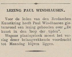 De Bredasche Courant vol 148 no 271 Lezing Paul Windhausen.jpg