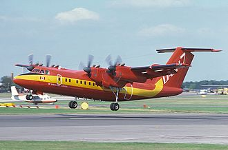 De Havilland Canada Dash 7 - Prototype DHC-7-100 at the 1978 Farnborough Air Show.