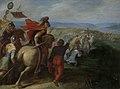 De Romeinen onder Cerealis verslaan Claudius Civilis door het verraad van een Bataaf Rijksmuseum SK-A-431.jpeg