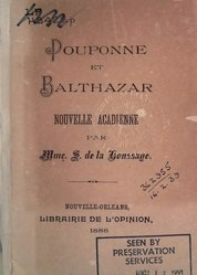 Sidonie de La Houssaye: Pouponne et Balthazar