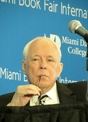 John Dean - Dean at the Miami Book Fair 2014 during the presentation of his book The Nixon Defense