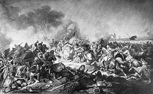 Death of Stefan Potocki at the Battle of Zhovti Vody 1648.PNG