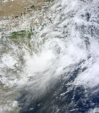 2011 North Indian Ocean cyclone season - Image: Deep Depressin BOB 02 16 June 2011