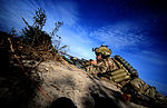 Defense.gov News Photo 120110-F-UL677-249 - A U.S. Army soldier assigned to the 1st Battalion 75th Ranger Regiment provides supporting fire while participating in a combined arms live fire.jpg