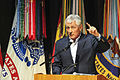 Defense Secretary Chuck Hagel speaks to academy students and faculty at the U.S. Army Sergeants Major Academy on Fort Bliss, Texas 150115-A-CR907-007d.jpg