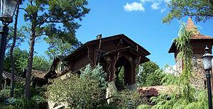 Skyway (Disney) - Image: Defunct Skyway station at Magic Kingdom