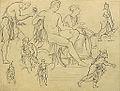 Dehodencq A. - Pencil - Etude de personnages d'après l'antique - 10x13cm.jpg