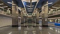 Delovoj Centr MosMetro station 01-2015 with train.jpg