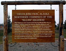 La fin de la Route de l'Alaska à Delta Junction